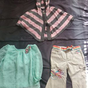 girl 18 mo 2 tops and pants